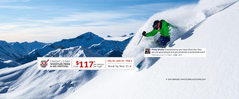 Whistler Pride Ski Festival Book by Nov 15