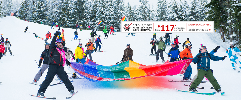 Whistler Pride Ski out parade