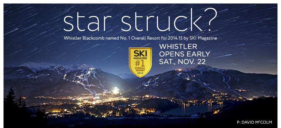 Whistler Opens Nov22