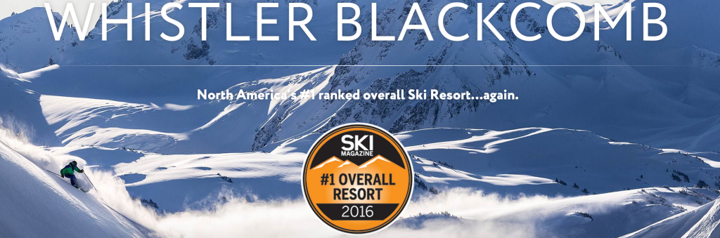 Whistler Blackcomb named the number one overall ski resort by Ski Magazine