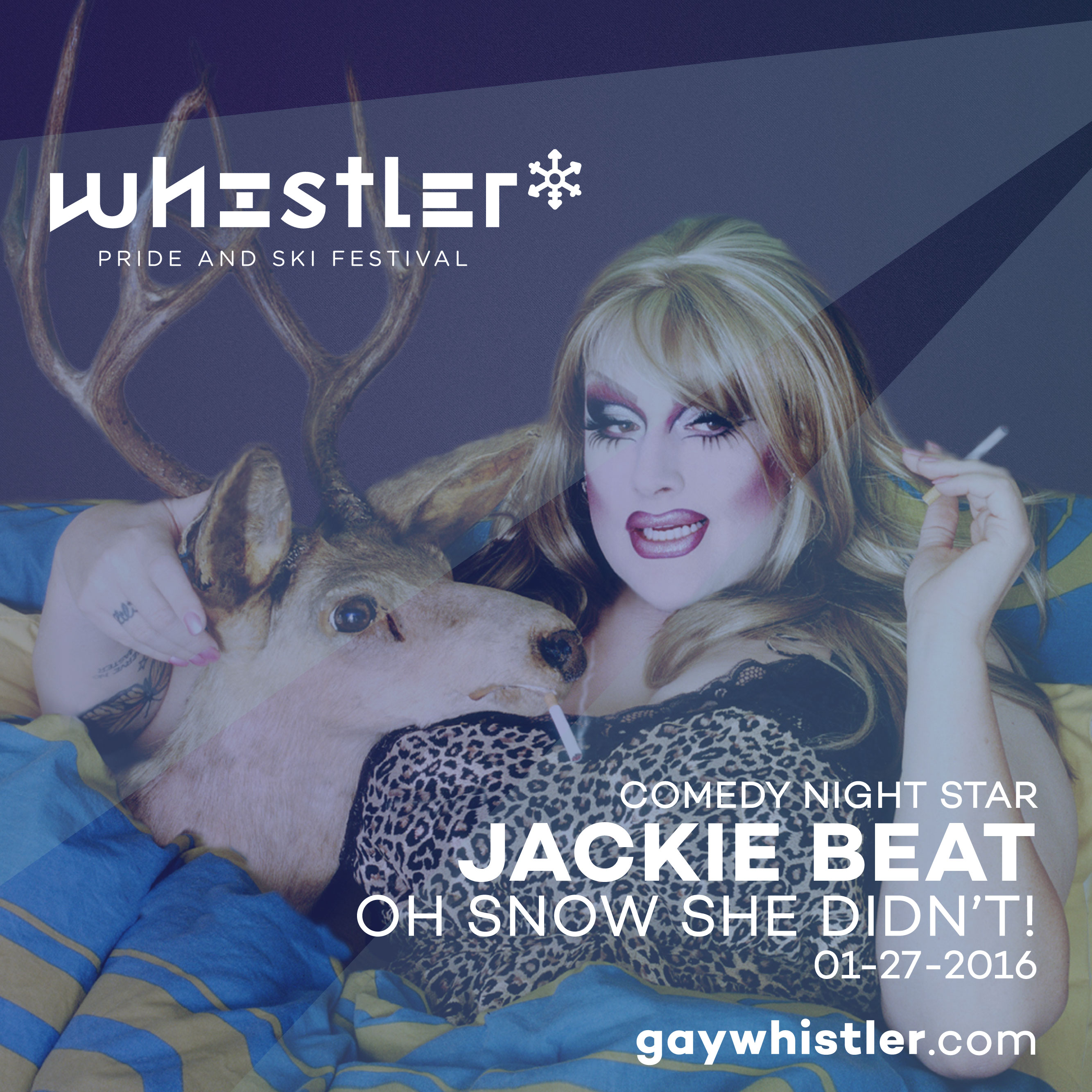 Jacki Beat in OH SNOW SHE DIDN'T at Whistler Pride and Ski Festival