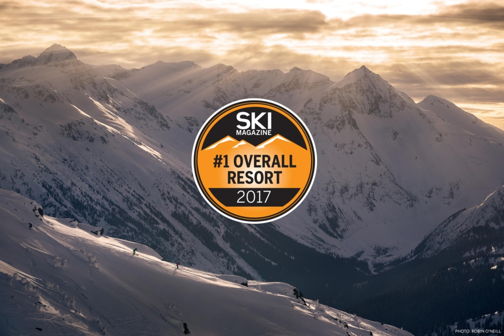 Whistler Blackcomb Number One resort for 2017 by Ski Magazine