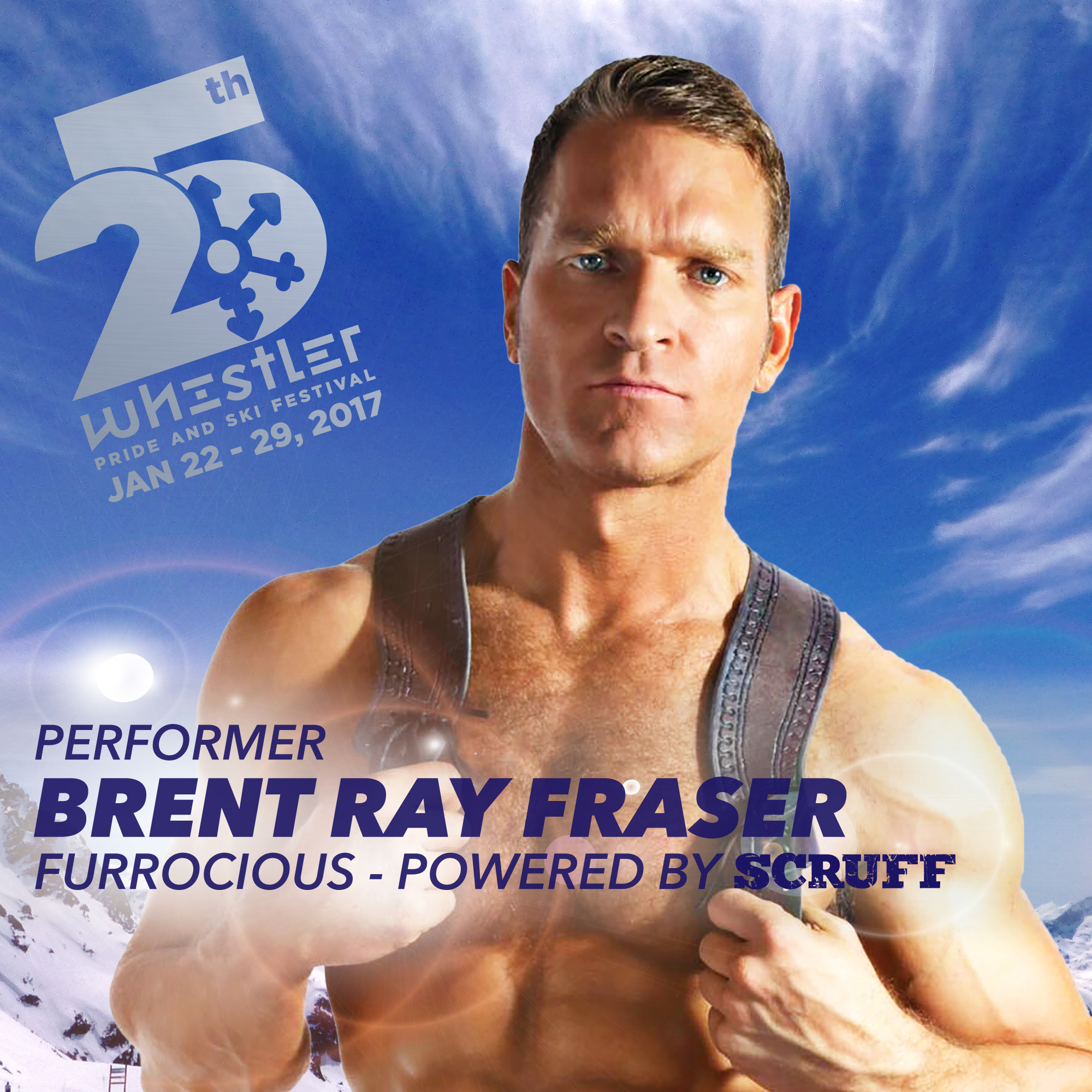 Performance Artists Brent Ray Fraser at Furrocious powered by SCRUFF
