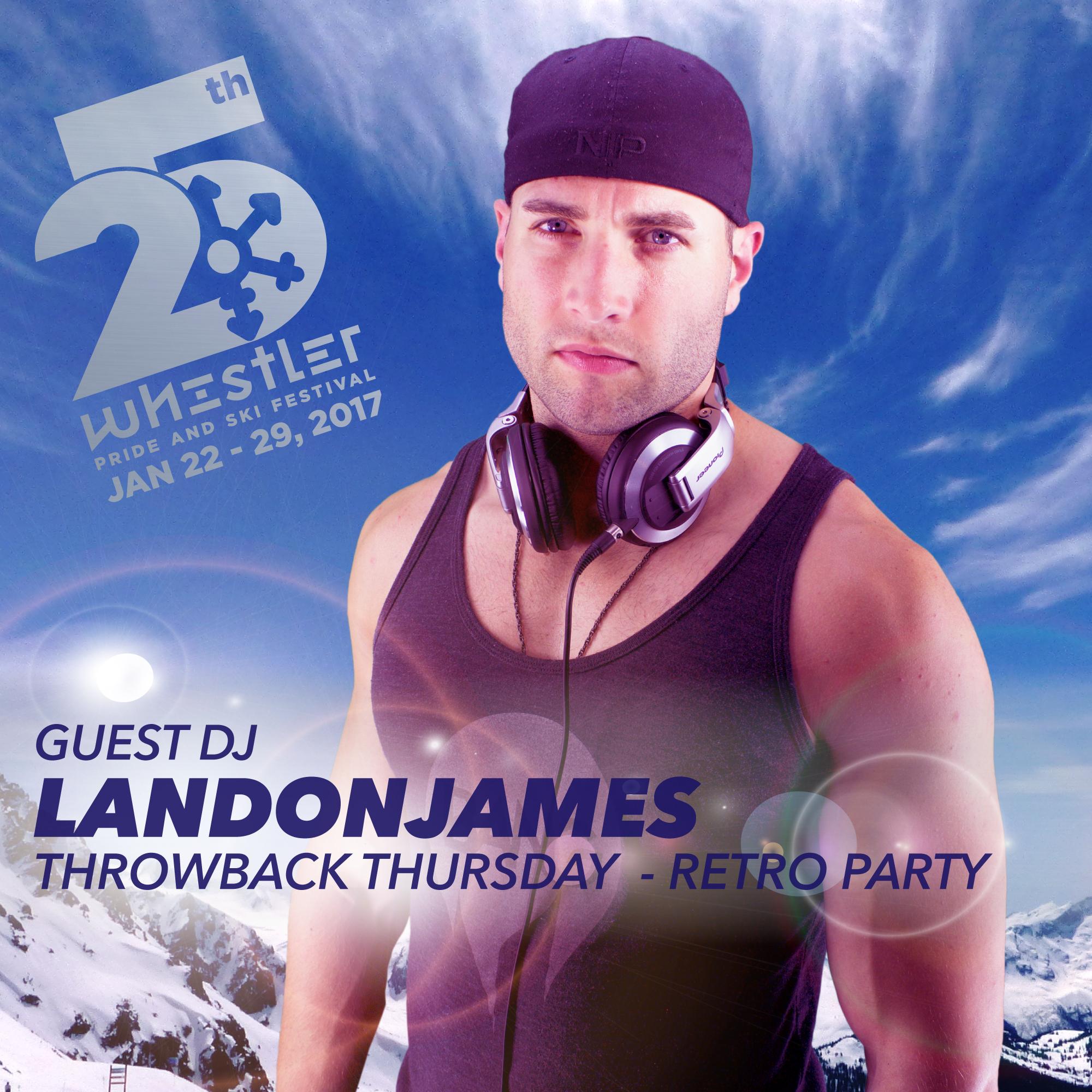 DJ LandonJames at Whistler Pride and Ski Festival