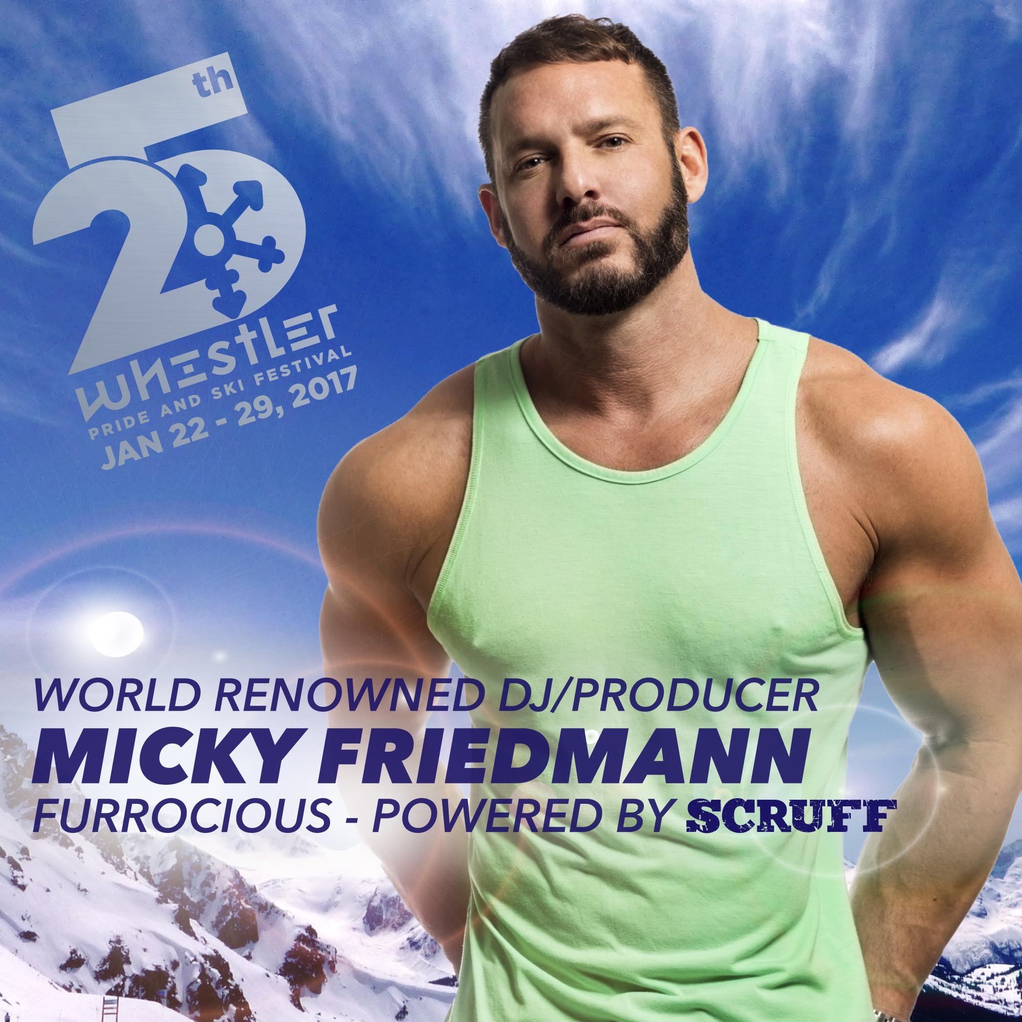 DJ Micky Friedmann at Furrocious Whistler Pride and Ski Festival