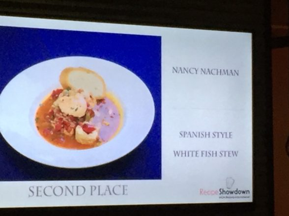 Nancy takes 2nd place in Recipe Showdown