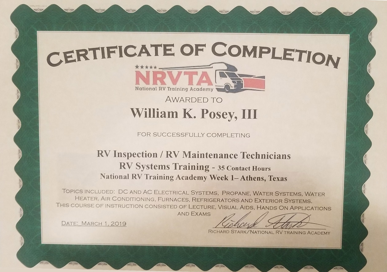 Cert-RV-Inspection-Technician-Bill-Posey