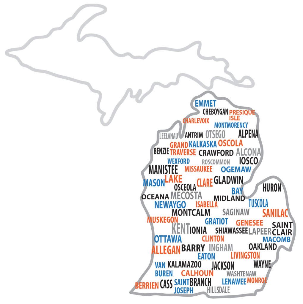 about-us, michigan-map, michigan insurance group service area