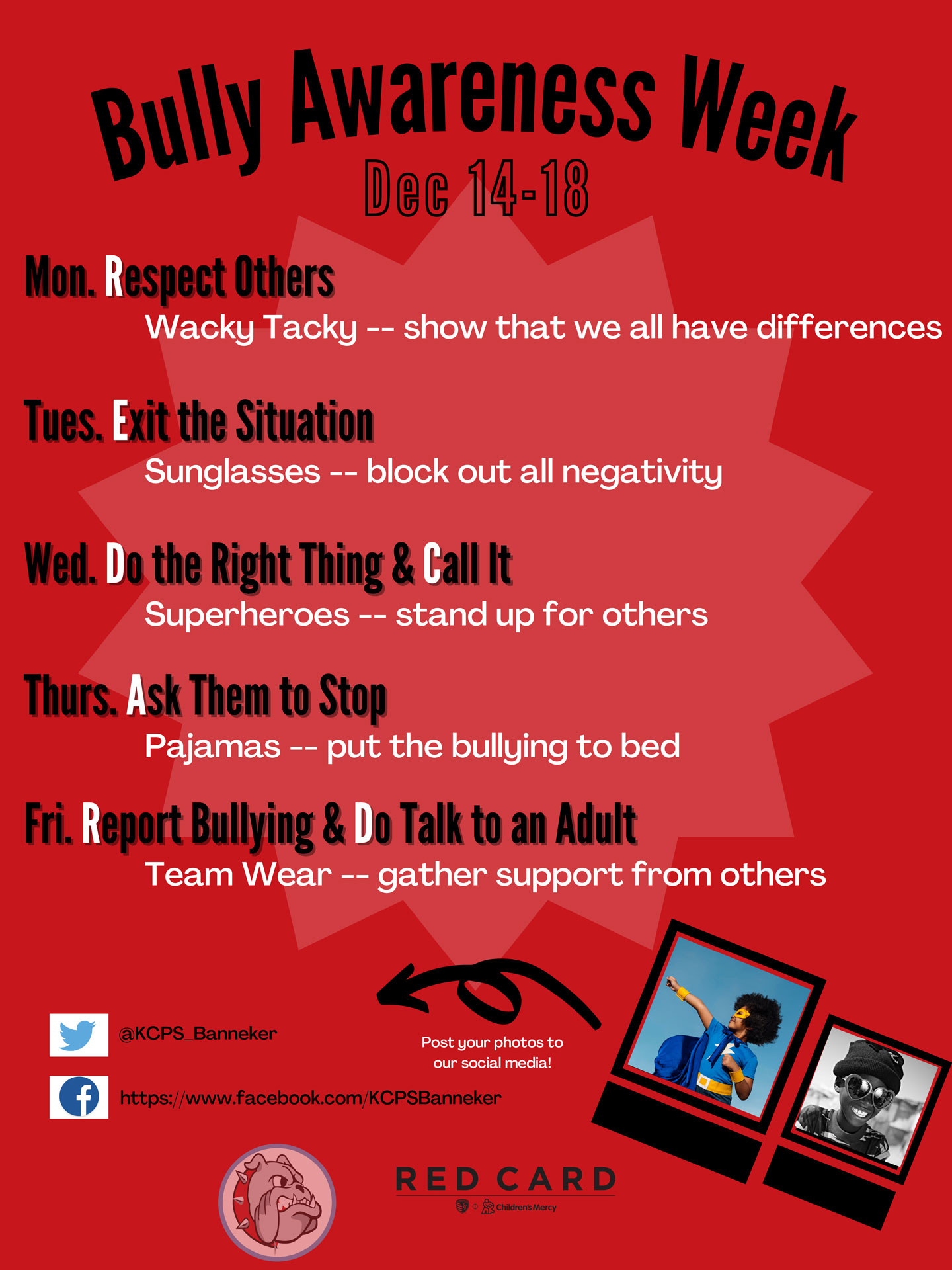 Banneker Elementary's Bullying Awareness Week PDF
