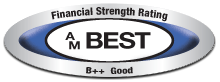 This company was issued a secure rating by the A.M. Best Company, click for additional details.
