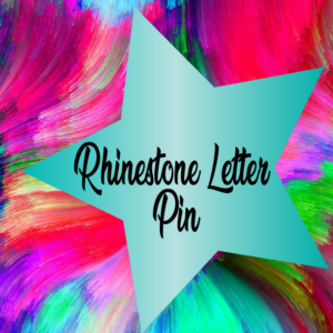 Rhinestone Letter Pins