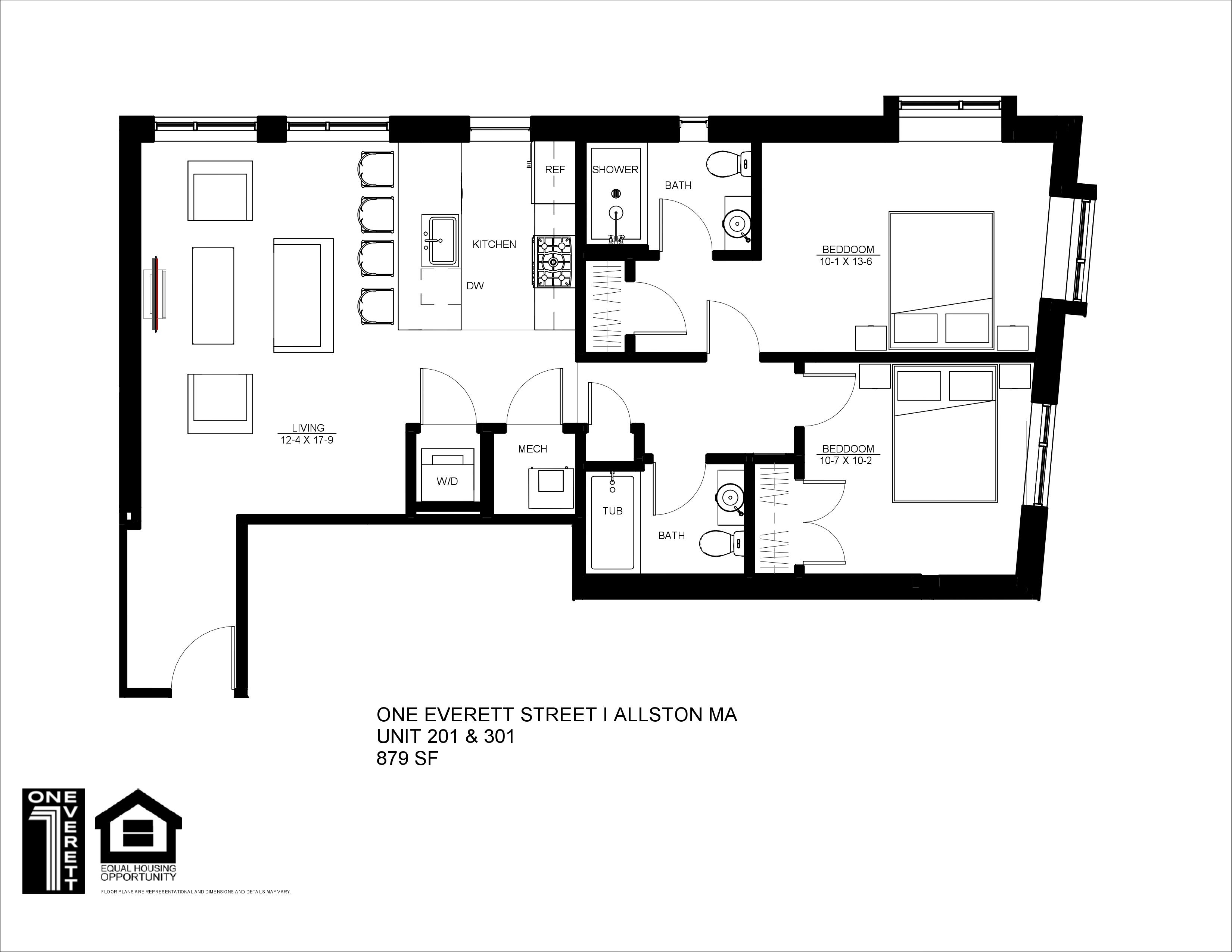 One Everett Two Bed (B)