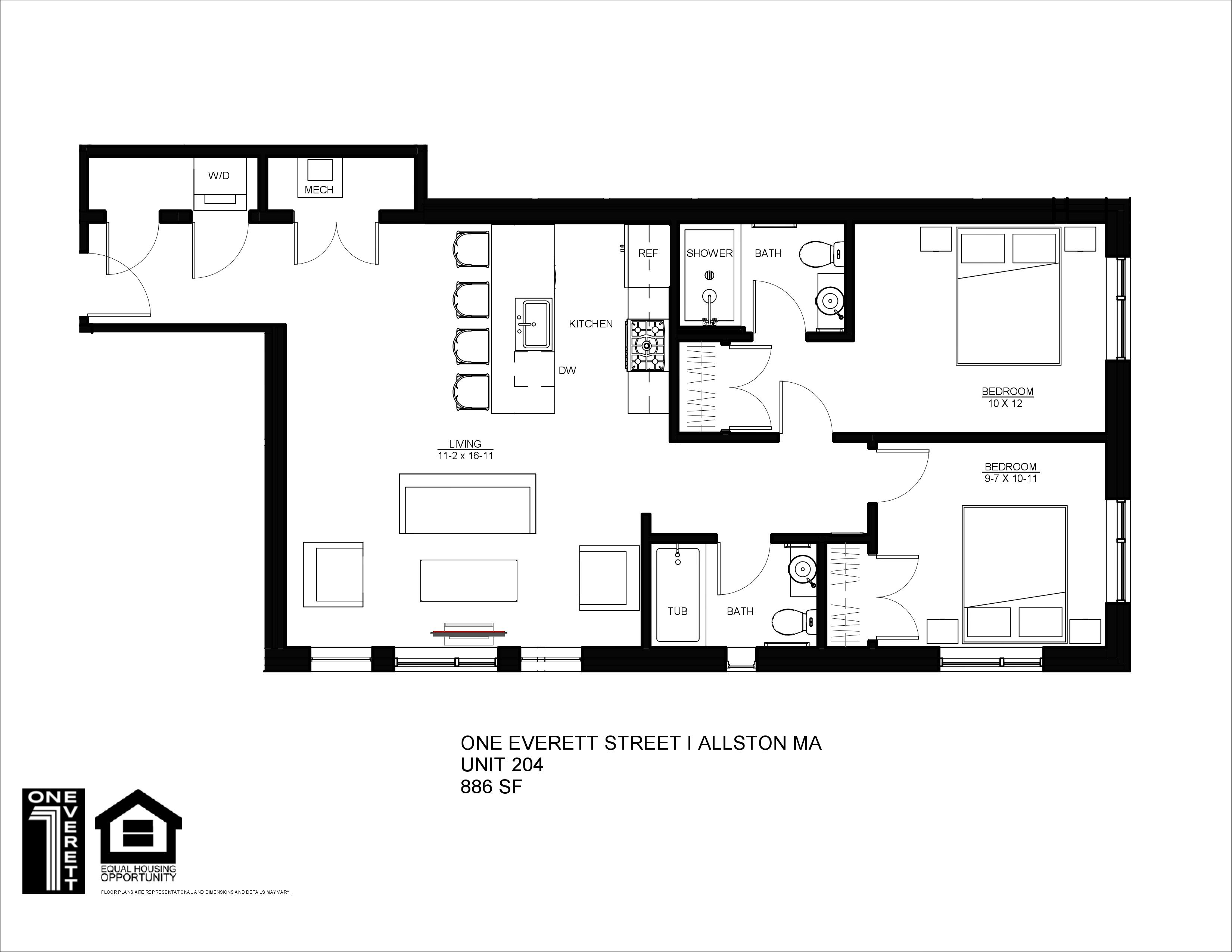 One Everett Two Bed (C)
