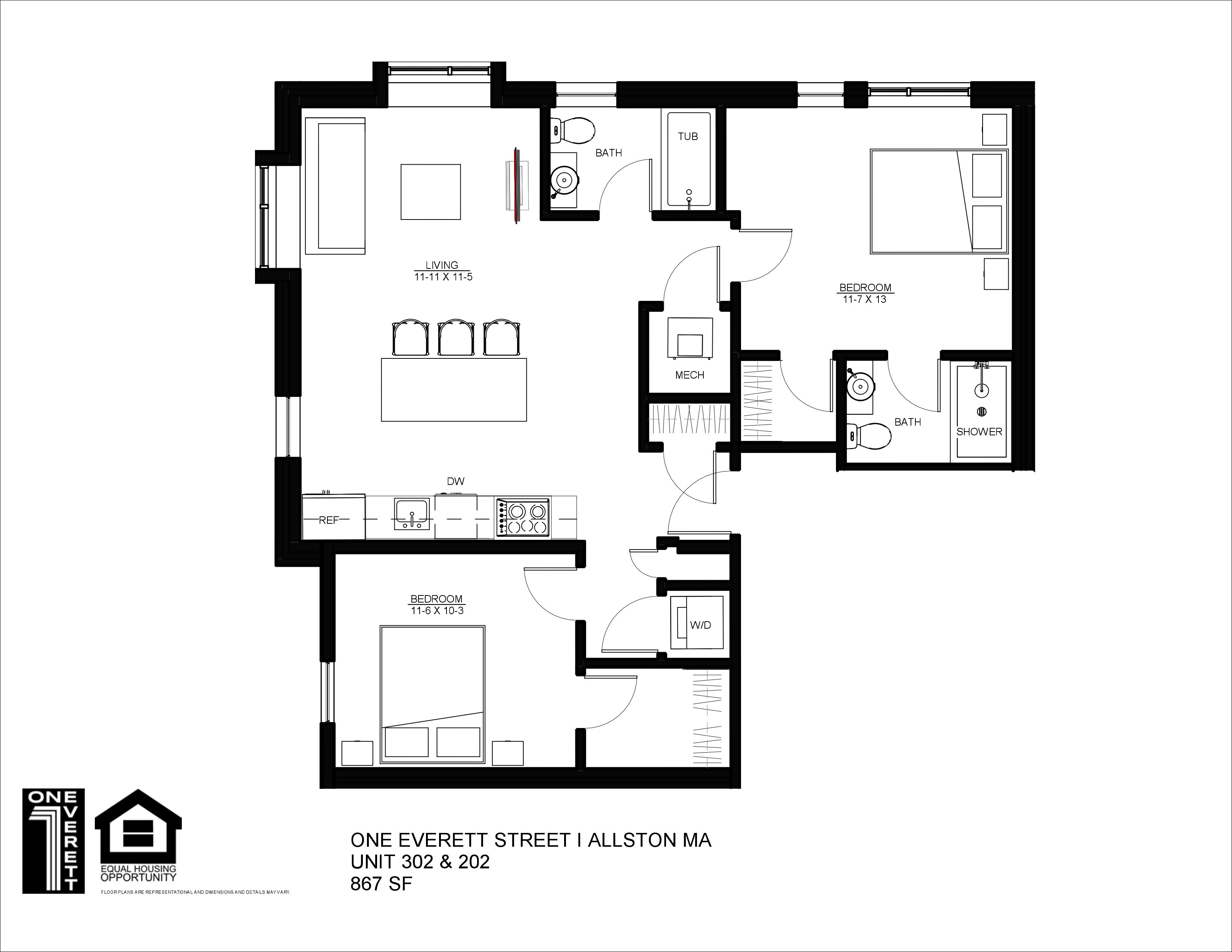 One Everett Two Bed (A)