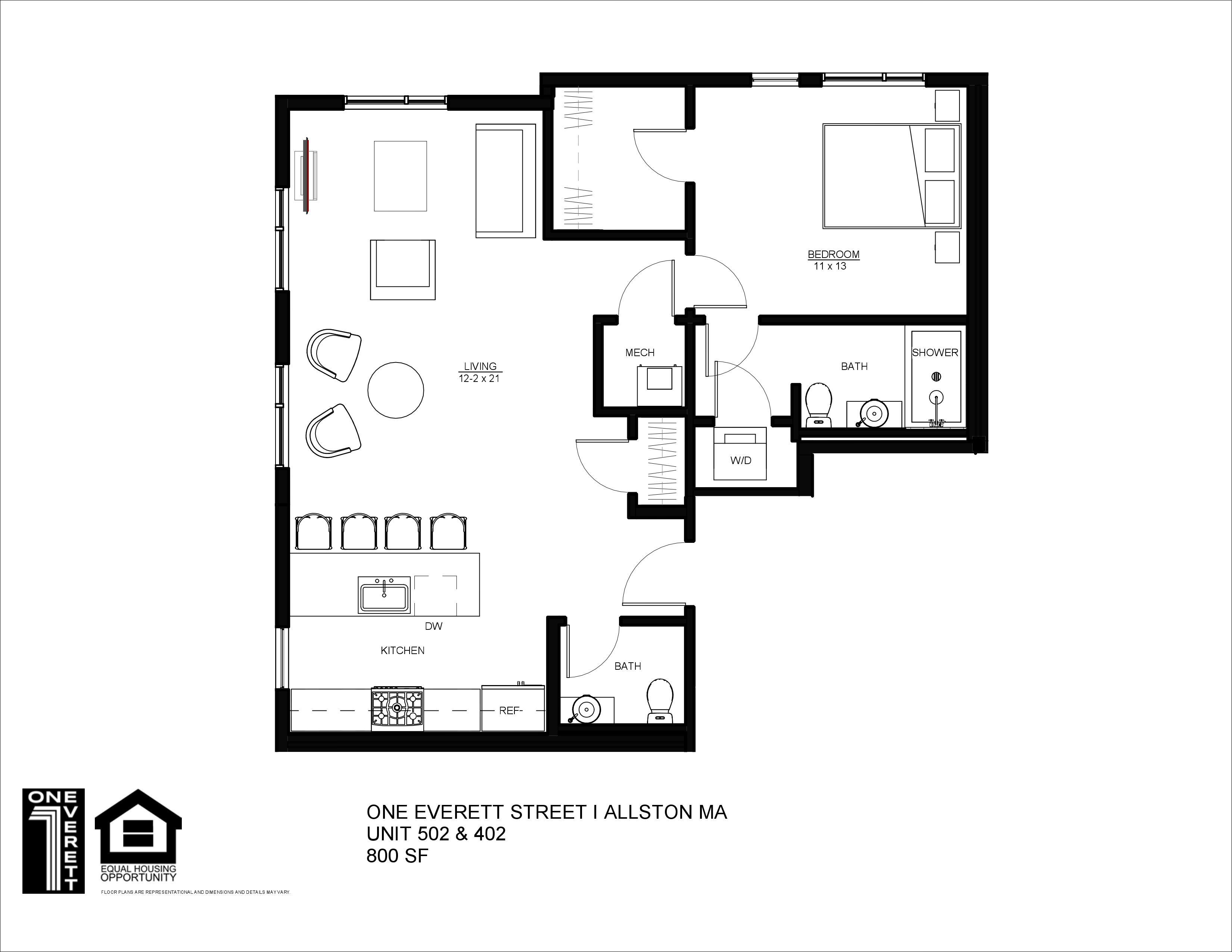 One Everett Floor Plans