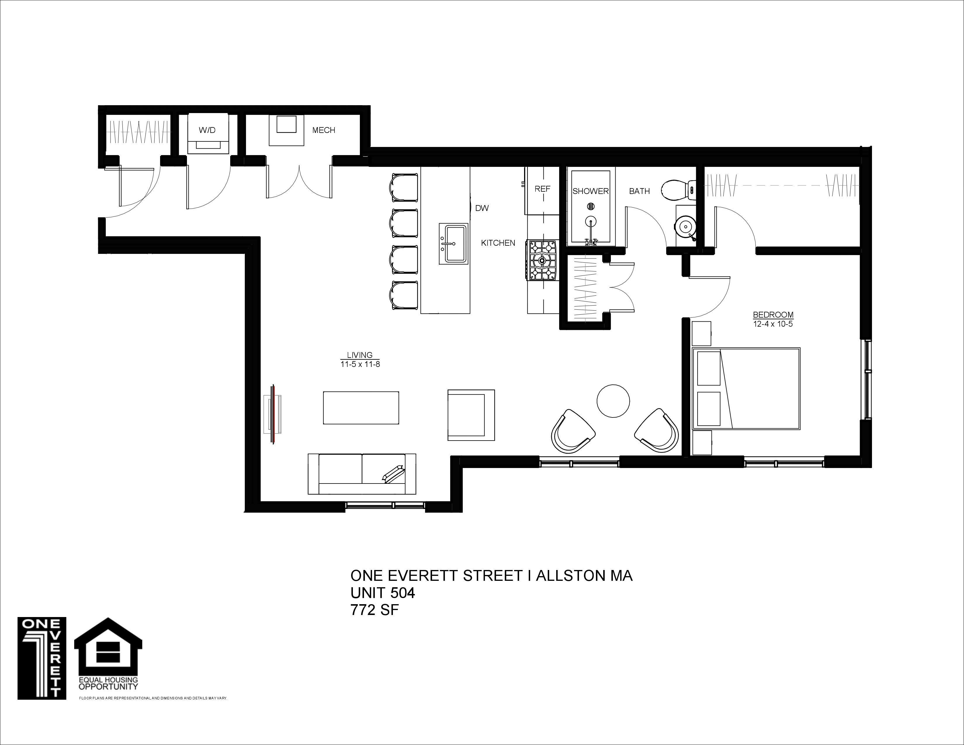 One Everett Allston Floor Plan