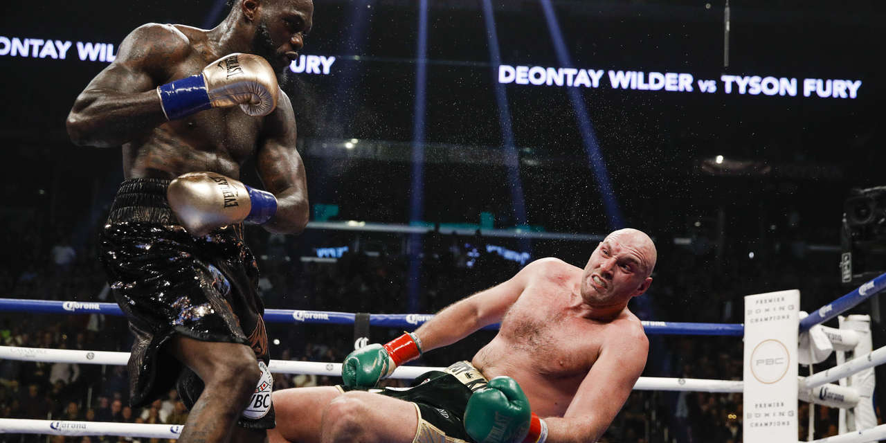 Tyson Fury gets knocked down