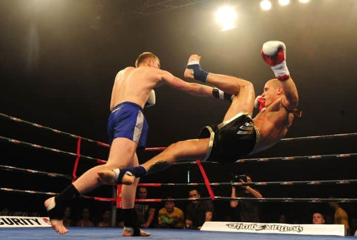 Knockdown by a big right hand