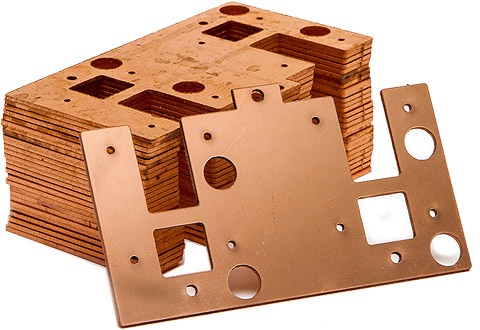 Cutting copper on a Waterjet is easy. With no heat the waterjet can get through cooper without a problem.