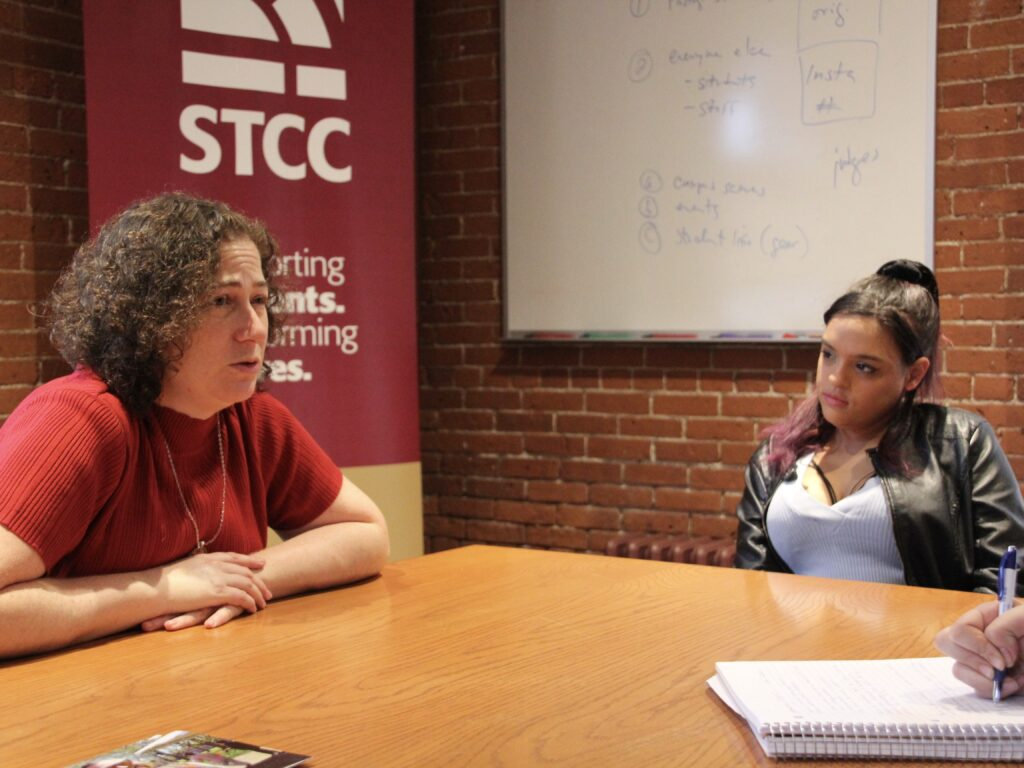Anita Gallers and Mahailey Butler at STCC.