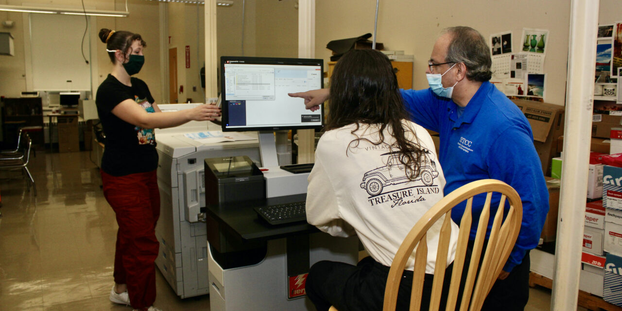 Graphic Communications and Photography students get hands-on experience with new digital press