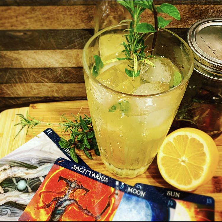 Lunar Lemonade: A Sagittarius Tom Collins Variation