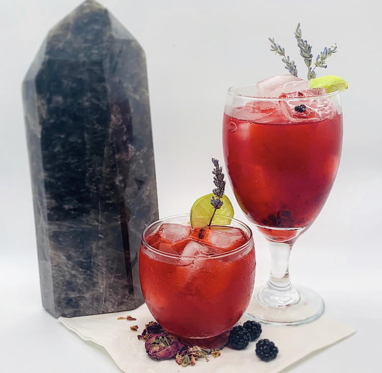 A blackberry-rose margarita aligned to the energies of the July 2020 Cancer New Moon, to inspire emotional healing, energetic protection, and revitalization.