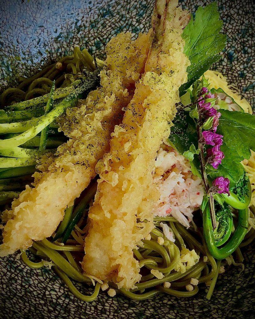 """Chilled Green Tea Soba """"Bukkake"""" Style"""