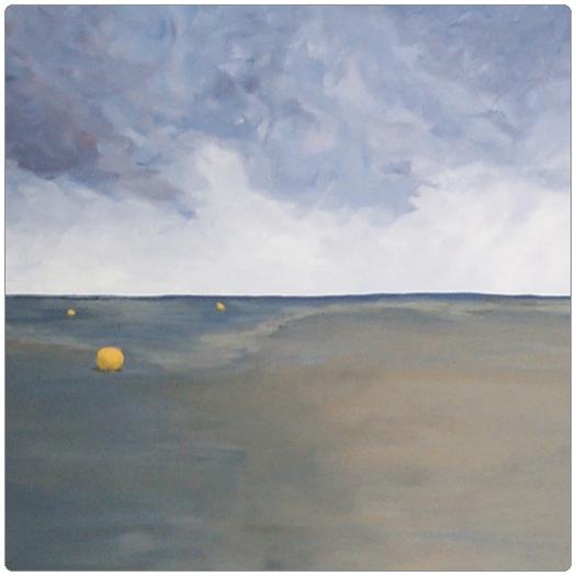 Paintings of low tide by Patrick van den Broek