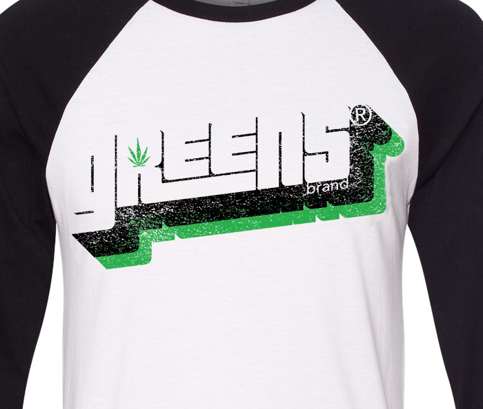 greens®brand-stampd-design-black-raglan-closeup