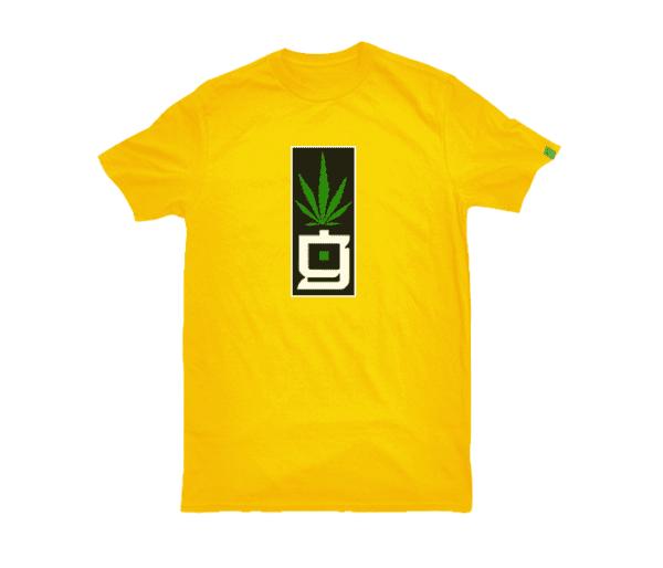 greensbrand G block design yellow t-shirt