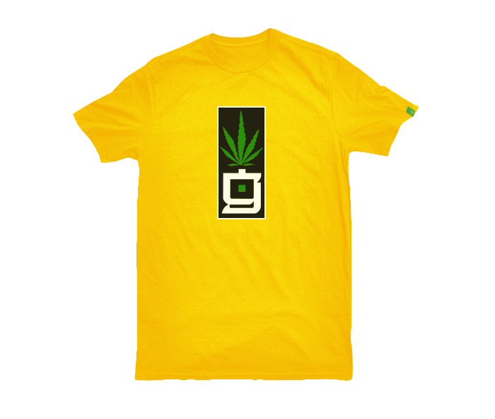 greensbrand G block design yellow t-shirt