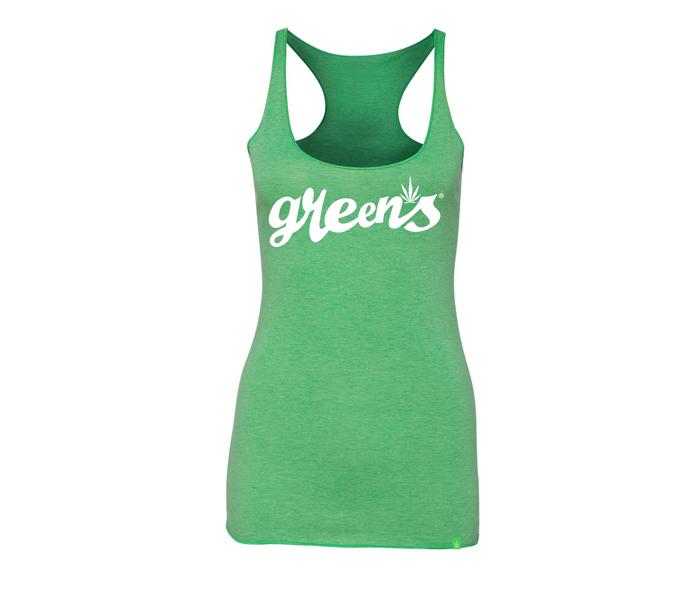 greensbrand-girls-script-design-green-tanktop-front