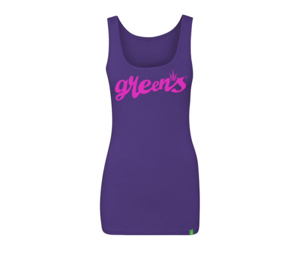 greensbrand-girls-script-design-purple-tanktop-front