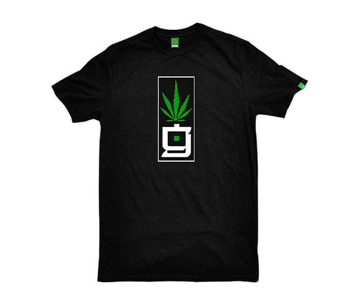 greensbrand G Block design black t-shirt