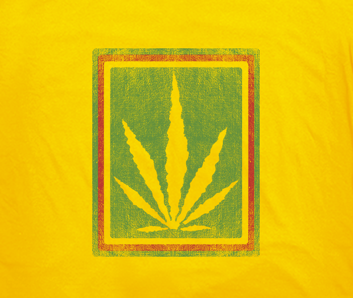 greensbrand rasta burlap design yellow closeup