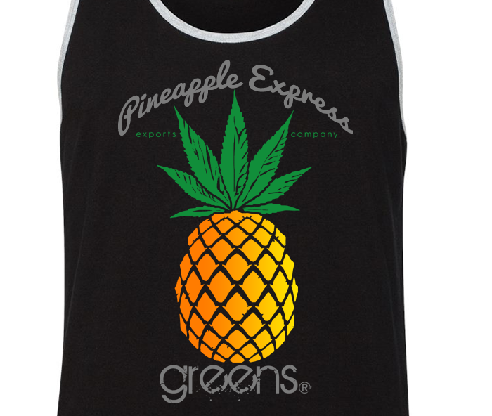 greensbrand Pineapple express design tanktop closeup
