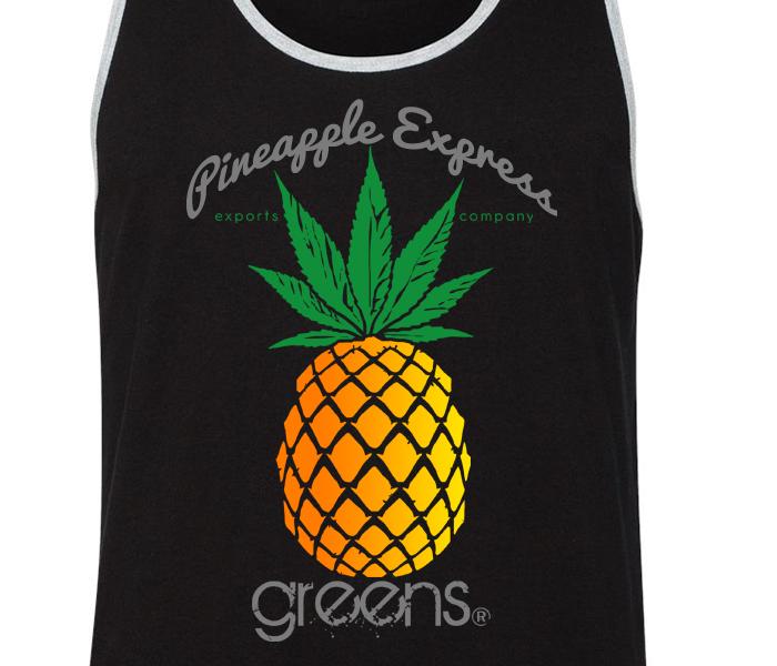greensbrand Pineapple express design tanktop closeup
