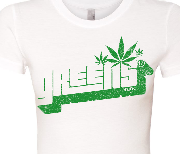 greens®brand-girls-Stampd-white-tee-closeup