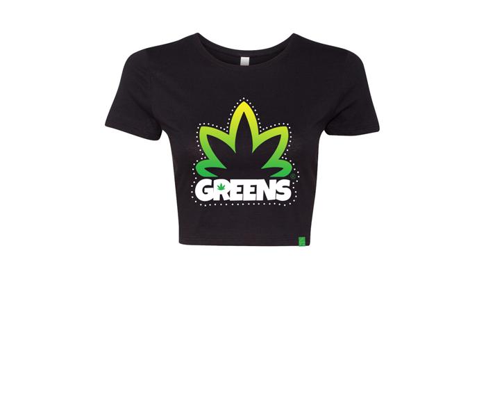 greens®brand-girls-bushy-black-crop-top