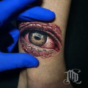 Best Realistic eye tattoo in Northridge, San Fernando Valley best MD Tattoo Studio California Mike DeVries