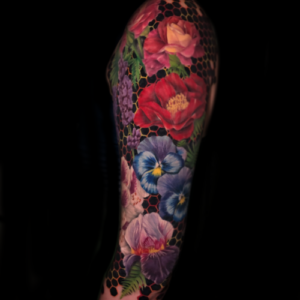 Best color floral sleeve tattoo Tattoo in Los Angeles Matt Hildebrand