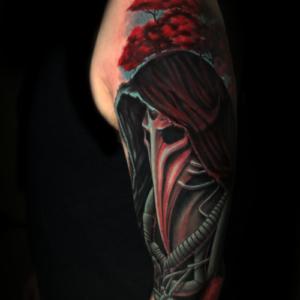 Best Plague Doctor Tattoo in Los Angeles Matt Hildebrand