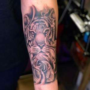 Best Black And Gray Tiger Tattoos In Los Angeles