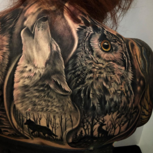 Best Wolf Tattoo In Los Angeles