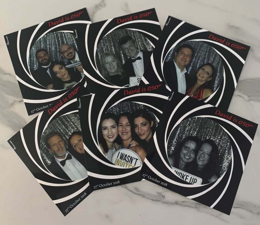 50th Birthday square prints Photomaker Photo Booth
