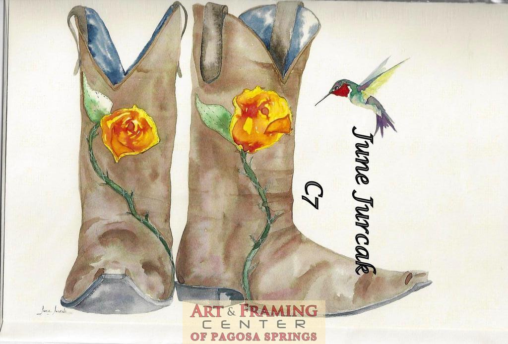 C7 boots and hummingbird