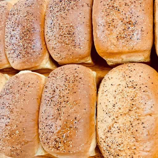 Bread baked on-site daily