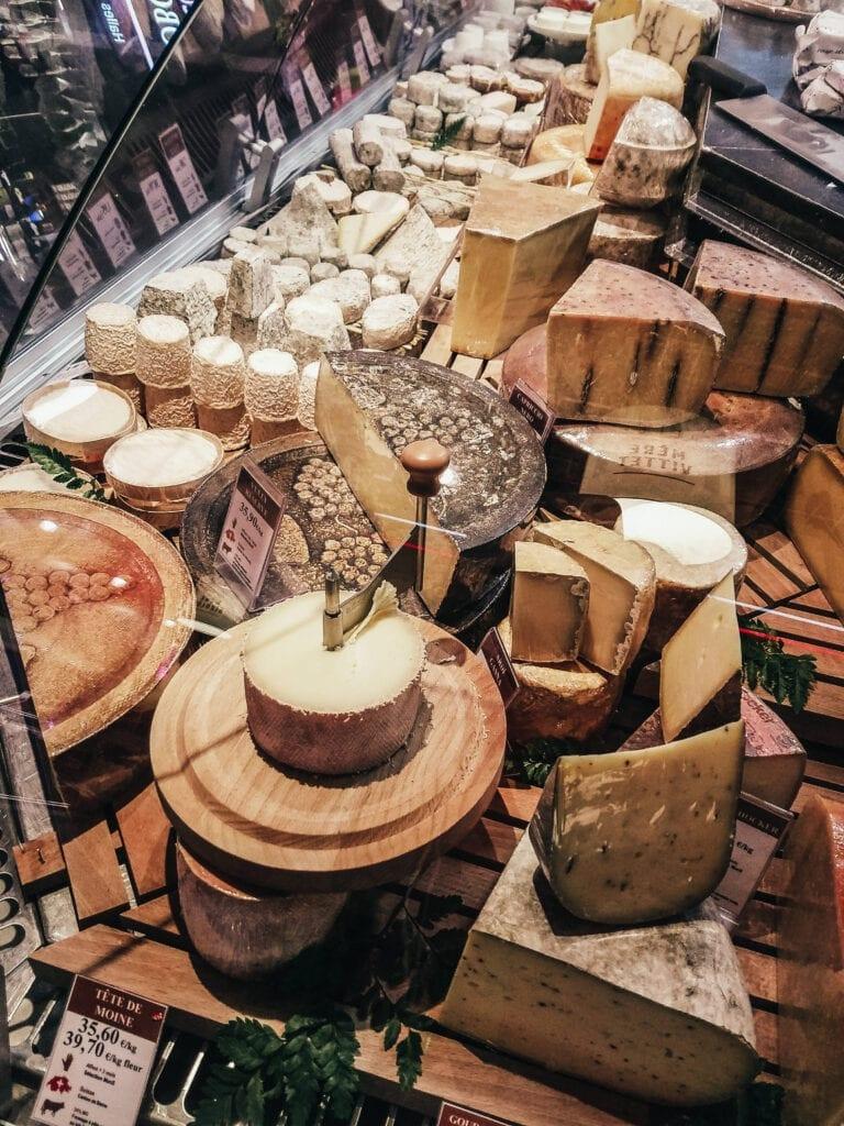 Cheese at Les Halles de Lyon Paul Bocuse in Lyon, France