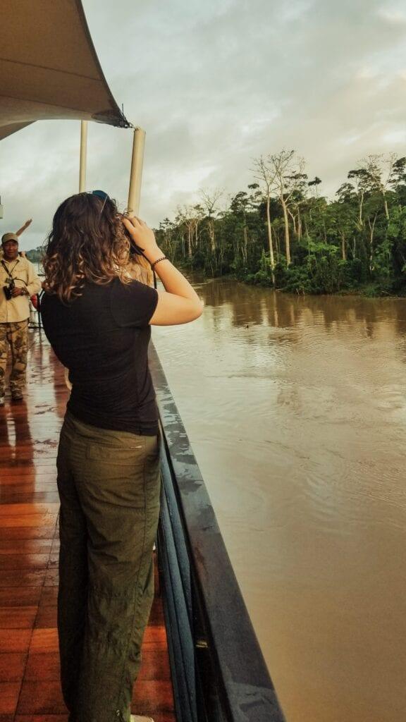 Birdwatching on an Amazon River Cruise